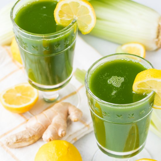 Lemon & Ginger Green Juice