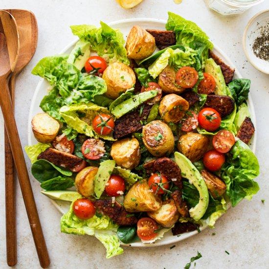 Vegan BLT salad