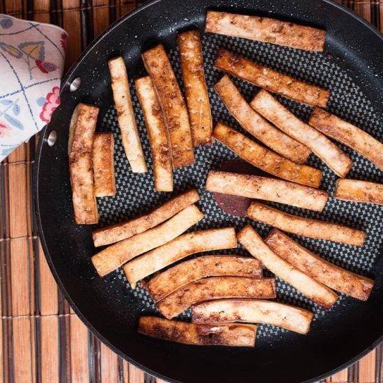 Pan Fried Tamari Tofu