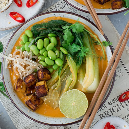 VEGAN RED THAI CURRY RAMEN