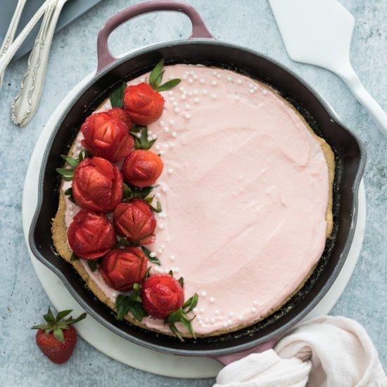 Vegan & GF Skillet Vanilla Cake
