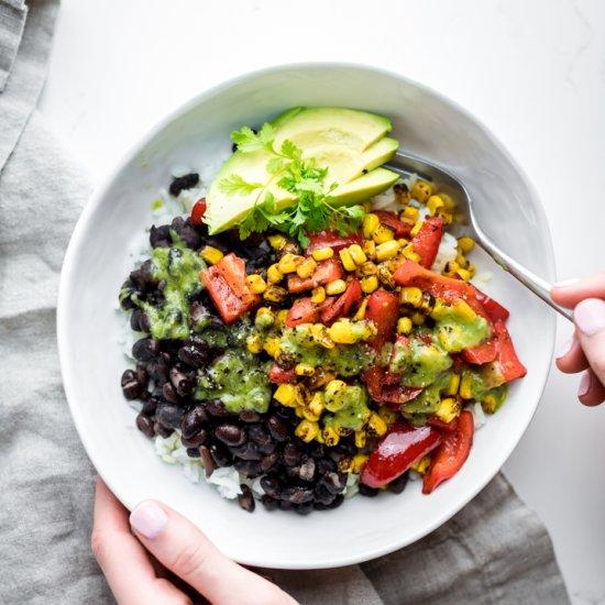 15-Minute Vegan Burrito Bowl