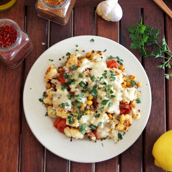 Cauliflower, Tomatoes & Chickpeas