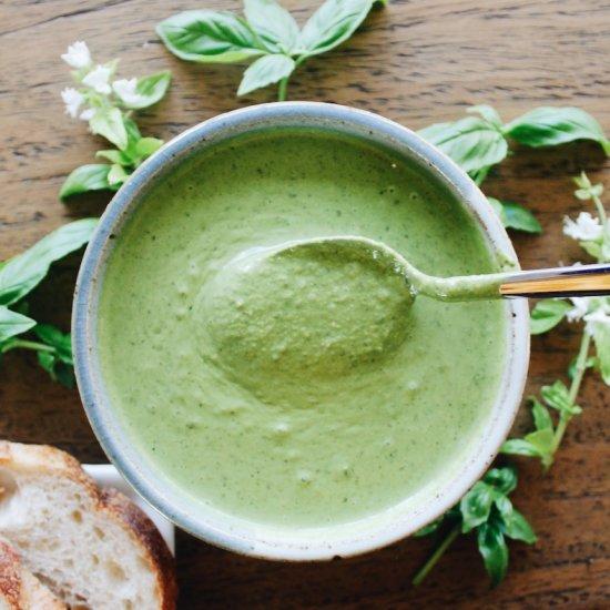 Creamy Vegan Kale Walnut Pesto
