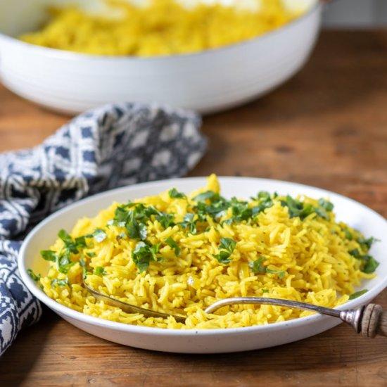 Turmeric Rice (yellow rice)
