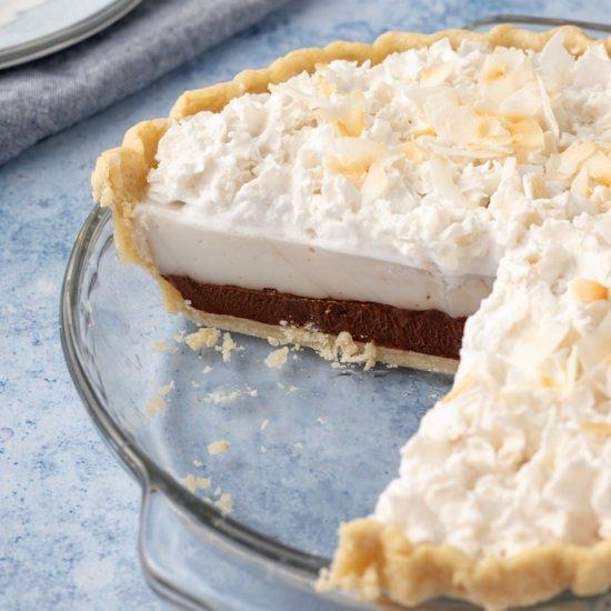 Vegan Chocolate Haupia Pie