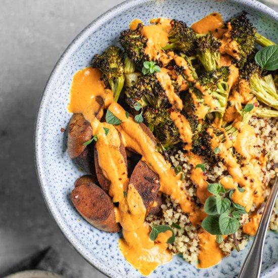 Roasted Broccoli Buddha Bowls
