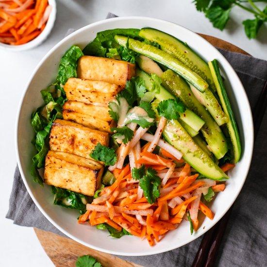 Vegan Tofu Banh Mi Salad