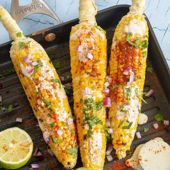 Vegan Grilled Corn on the Cob