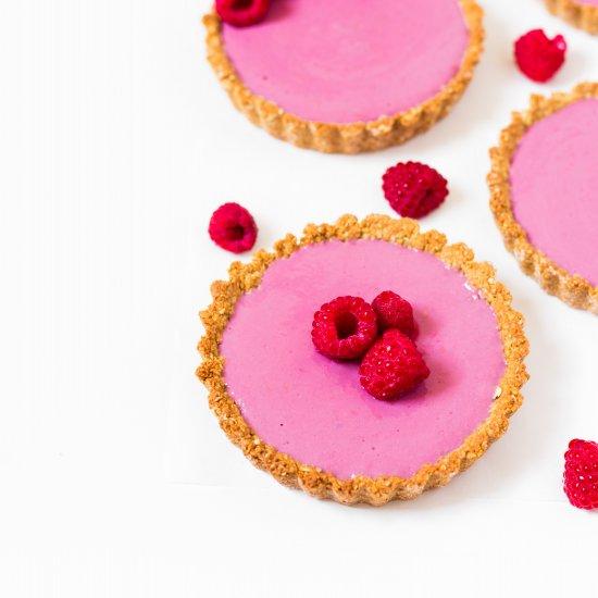 Raspberry Granola Tarts (Vegan)