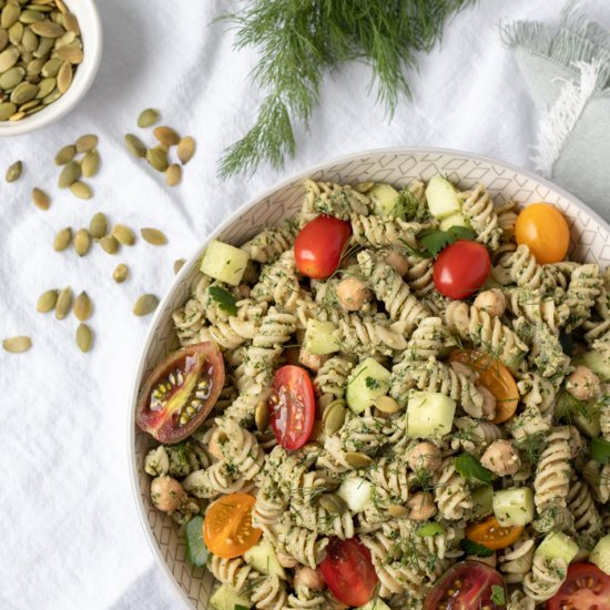 Pasta Salad With Parsley-Dill Pesto