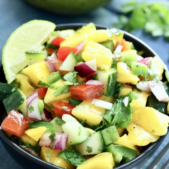 Easy Spicy Mango Salsa