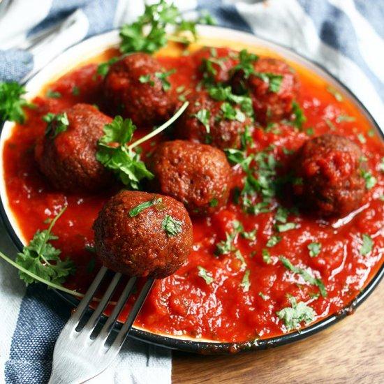 Black Bean Meatballs Tomato Sauce