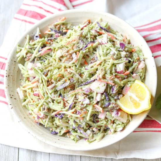 Vegan Tahini & Fig Broccoli Slaw