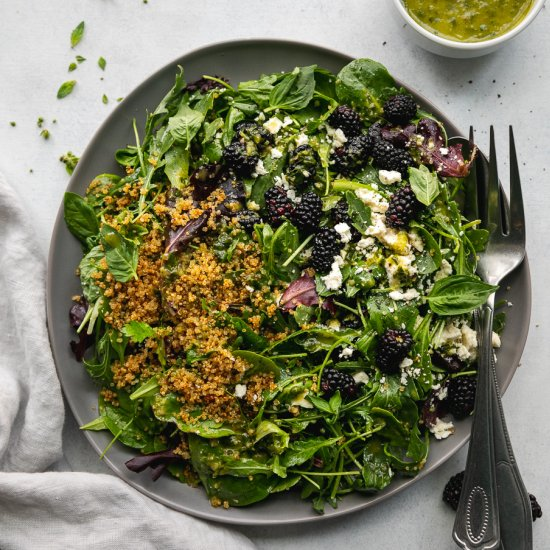 Blackberry Feta Quinoa Salad