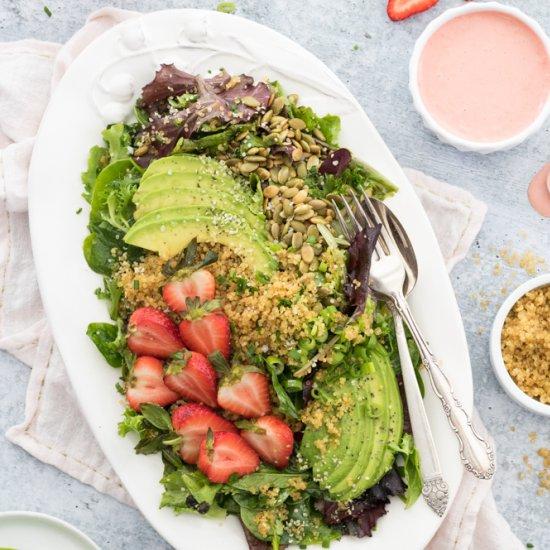 Crispy Quinoa & Avocado Salad