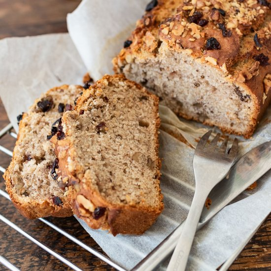 Vegan banana bread loaf