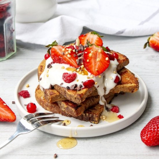 Vegan Vanilla Berry French Toast