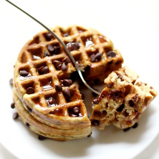 Easy GF/V Chocolate Chip Waffles