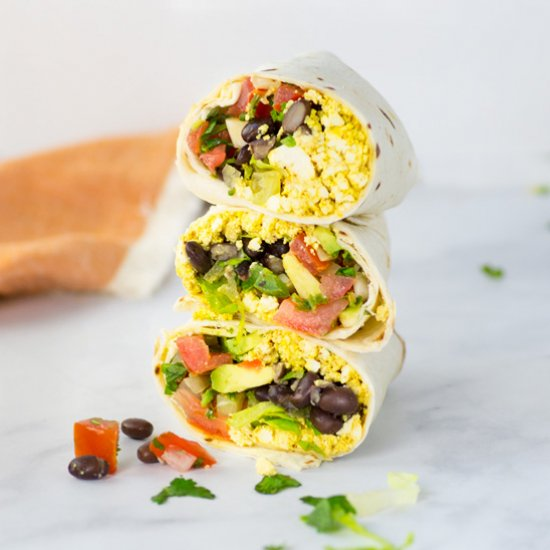 Tofu Scramble Breakfast Burritos