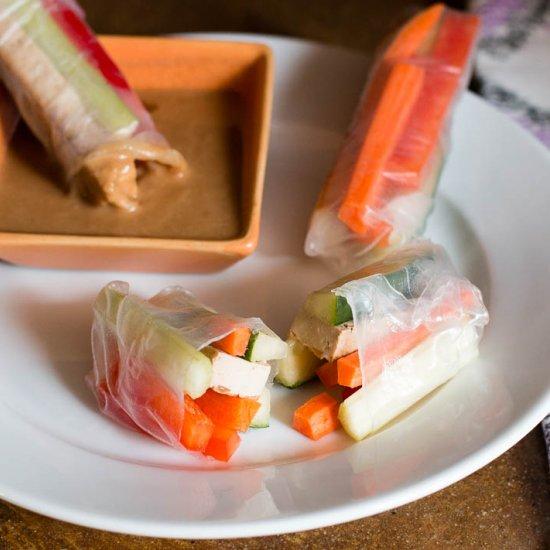 Tofu & Veggie Spring Rolls
