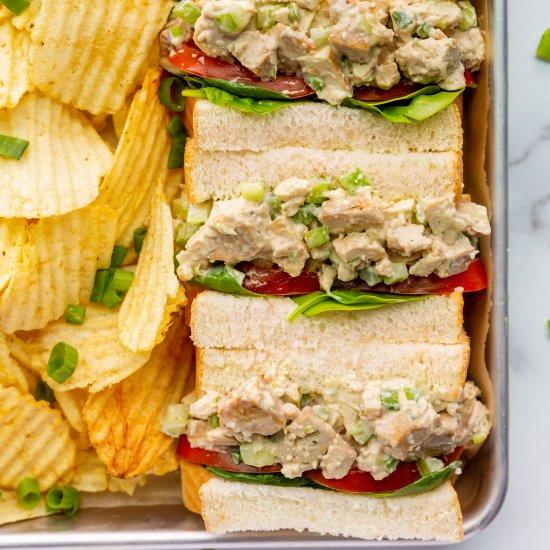 Vegan Chicken Salad Sandwiches