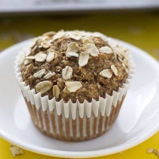 Easy Banana Oat Muffins (V, GF)