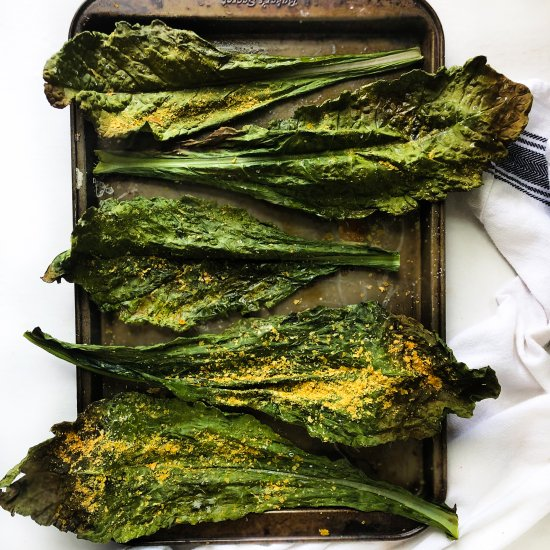 XL Cheesy Kale Chips (vegan)
