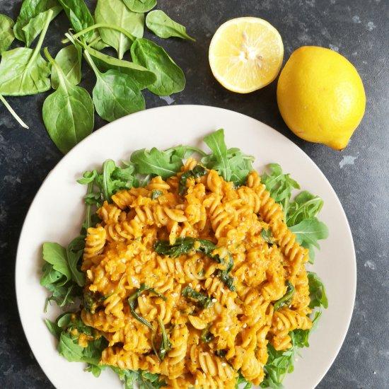 Red Lentil & Spinach Pasta (Vegan)