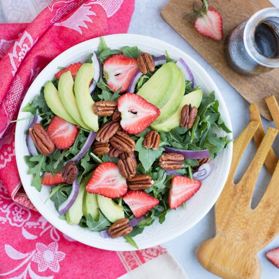 Strawberry Salad with Balsamic