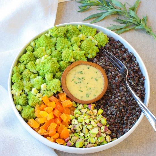 Romanesco & Black Lentils Bowl