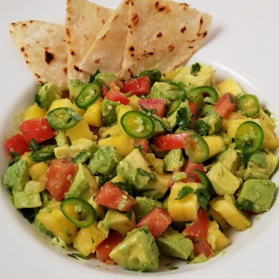 Spicy Pineapple Avocado Salsa