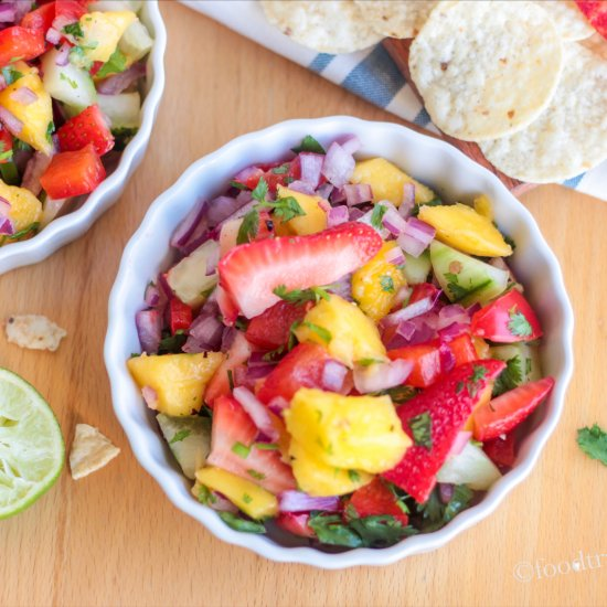 Mango and Strawberry Salsa