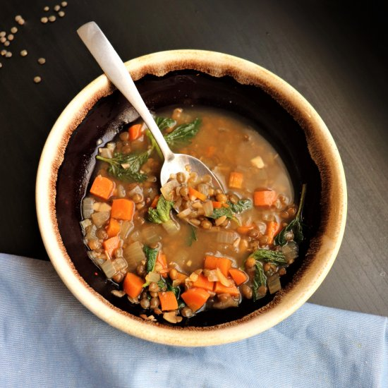 Lentil and Nettle Miso Soup