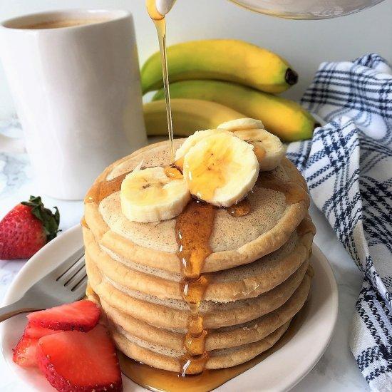 The Easiest Fluffiest Vegan Pancake