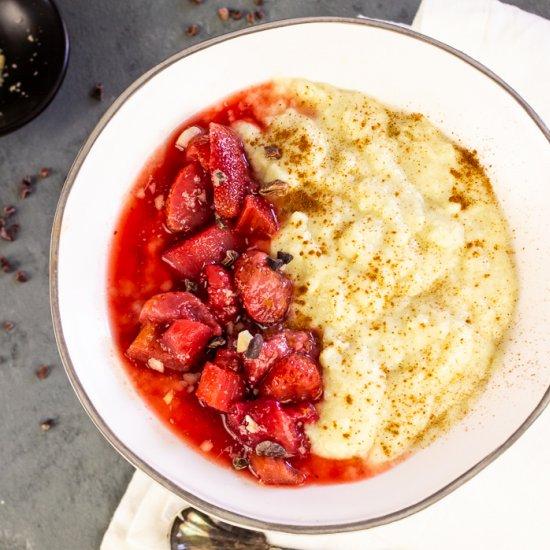 Creamy Semolina Pudding