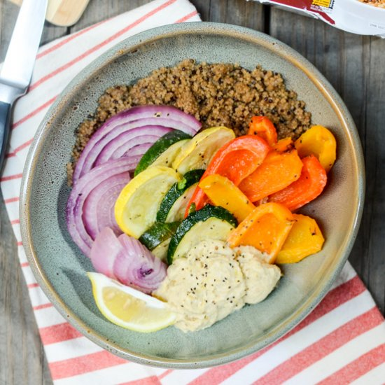 Vegetable, Hummus, Quinoa Bowls