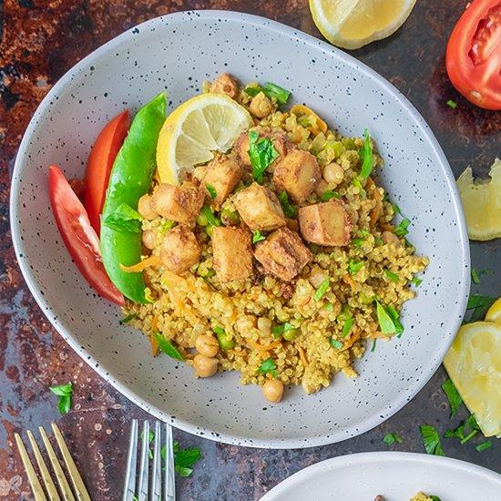 Tandoori Faux Chicken Quinoa Bowl