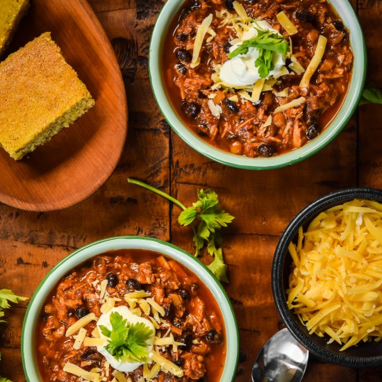 Easy Black Bean and Lentil Chili
