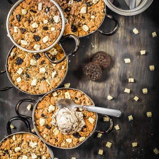 Oreo Oatmeal Skillet Cookies