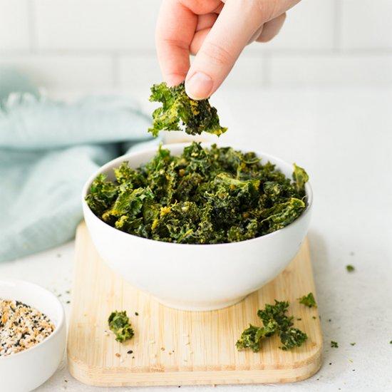 Everything Bagel Kale Chips