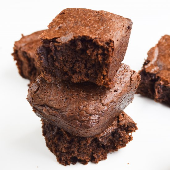 Vegan Fudgy Cashew Butter Brownies