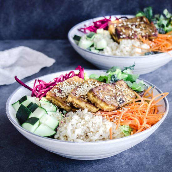 Vegan Buddha Bowls with Tofu (gf)