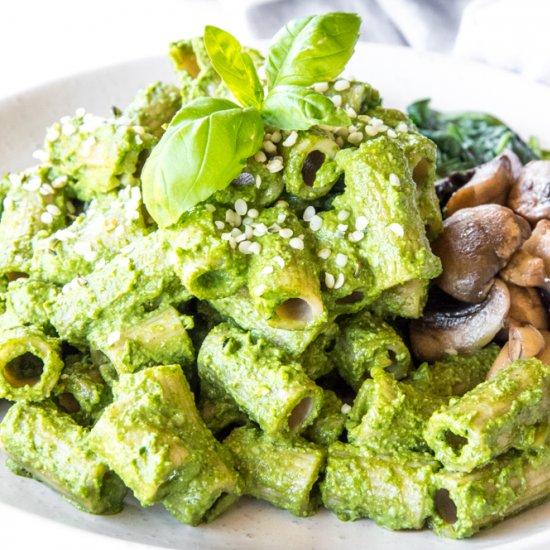 Hemp Seed Basil Pesto Pasta