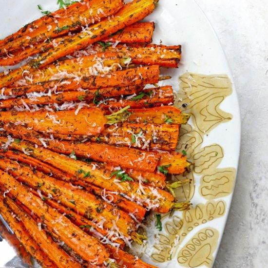 Best Air Fryer - Air Fryer Carrots with Parmesan
