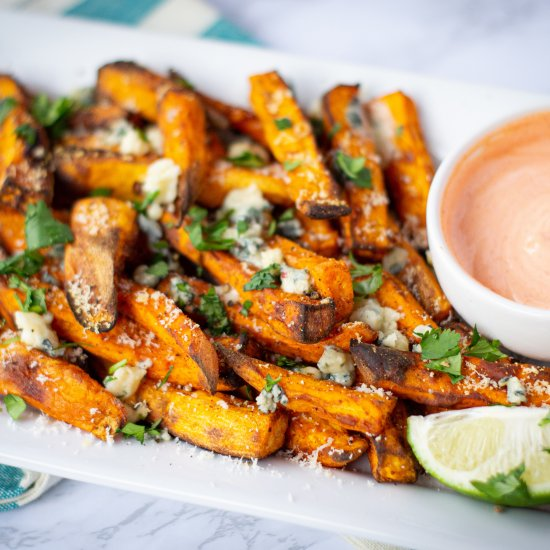 Best Air Fryer - Gorgonzola Sweet Potato Fries