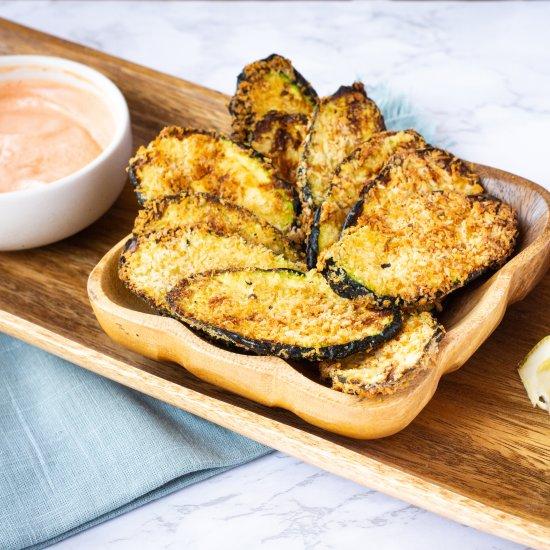 Best Air Fryer - Air Fryer Parmesan Zucchini Chips