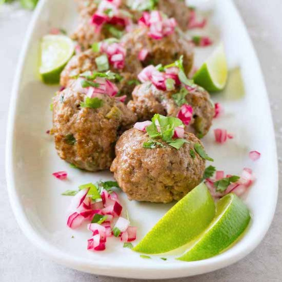 Low carb spicy meatballs recipe